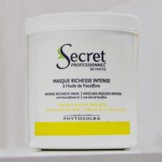 Secret Professionnel by Phyto (Cекрет Профешнл) Интенсивная восстанавливающая маска для ультра-сухих/поврежденных волос с маслом Пассифлоры (Masque Richesse Iintense) 500мл