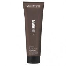 Selective (Селектив) Гель для укладки волос со смываемым черным пигментом (For Man | Back to black), 150 мл